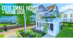 the sims 4 cute small house no 1 build house tour youtube