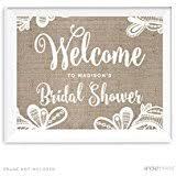 Bridal Shower Signs Amazon Com Bridal Shower Banners U0026 Garlands Decorations Home