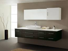 bathroom brown costco vanity with lenova sinks and graff faucets