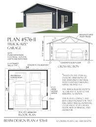 24 x 24 garage plans 2 car truck size garage plan by jay behm 576 11 24 x 24 behm