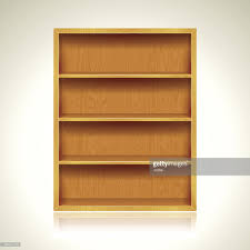 wooden bookshelves background vector art getty images