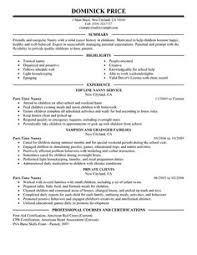 Example Of Nanny Resume by Babysitter Resume Sample Resume Examples Pinterest Resume