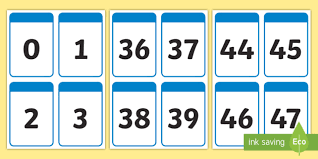 digit math number digit cards 0 50 numeracy digit card math number