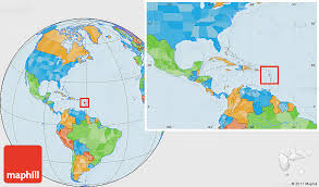 where is and tobago located on the world map political location map of guadeloupe within the entire continent