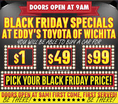 toyota special deals toyota black friday special 2015 savings sales event wichita car