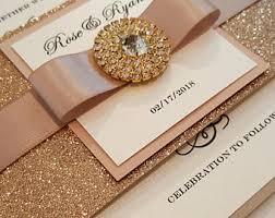 bling wedding invitations bling invitation etsy