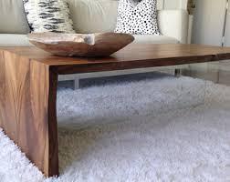 waterfall coffee table wood coffee table etsy