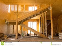unfinished architectural house interior design stock photo image