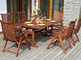 Teak Outdoor Dining Table And Chairs Furniture Cozy Teak Outdoor Furniture For Outdoor Dining