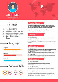 Minimalist Resume Minimalist Cv Curriculum Vitae Resume Vector Template V3 U2014 Stock