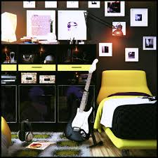Bedroom Wall Posters Ideas Bedroom Teen Boy Bedroom Ideas In Music Theme With Black Wall And