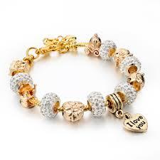 bracelet charm pandora images Pandora crystal beads women charm bracelets bangles ken jpg