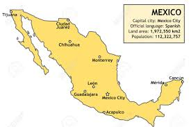 Mexico Map Cancun by Outline Map Of Mexico With Major Cities And A Basic Country