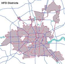 houston map districts houston department hfd