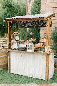 rustic outdoor wedding bar idea deer pearl flowers teresa maez