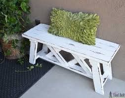 2x4 Outdoor Furniture by Double X Bench Plans Her Tool Belt
