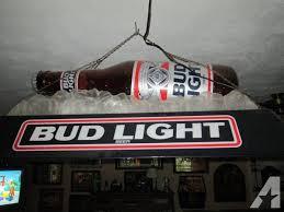 bud light pool table light pool table light bud light bottle on ice for sale in eagle lake