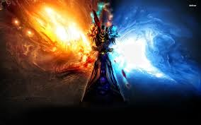 world of warcraft halloween background undead fire mage wallpapers