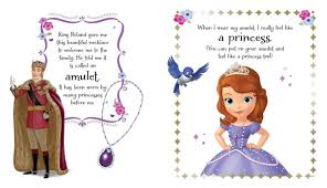 disney sofia the first becoming a princess storybook and amulet