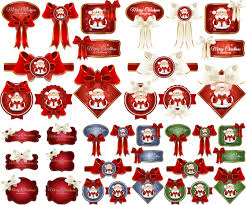 2014 red christmas labels vector vector graphics blog