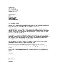 Complaints Letter To Hospital complaint letter requesting reimbursement for lost luggage office