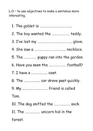 missing adjective sheet by nickybo teaching resources tes