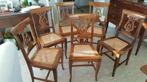 sedie chippendale sei sedie stile chippendale in noce italiano e paglia di vienna