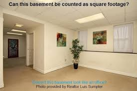 can a basement be considered square footage sacramento