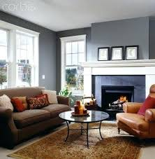 Living Room With Brown Leather Sofa Grey Walls Brown Furniture Lavish Penthouse On The Market For But