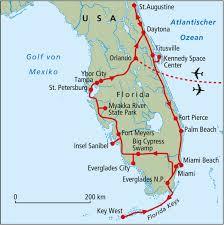 Palm Beach State Map Florida Rundreise Reisen U0026 Expeditionen Mit Rotel