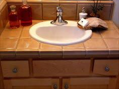 ideas for bathroom countertops tiled bath counter top with marble accent tile tile