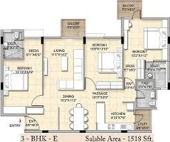 1518 sq ft 3 bhk 3t apartment for sale in bren trillium hosa road