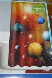 Boys Space Curtains Valance U0026 Drapes Planets Stars Astronomy Outer Space Moon Galaxy