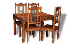 indian wood dining table jali indian furniture 120cm dining table and 4 jali wood chairs