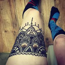 leg garter henna on my thigh by obscureartbymajerle on deviantart
