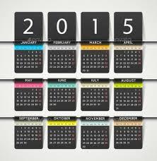 2015 calendar template psd and vector format download
