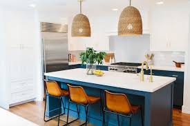 navy blue kitchen island ideas 15 gorgeous blue kitchen designs you ll want to re create