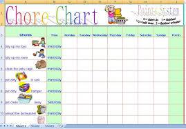 chore chart template expin memberpro co