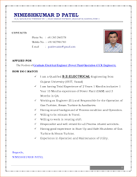 Resume Examples Year 10 by Curriculum Vitae Samples For Electrical Engineers