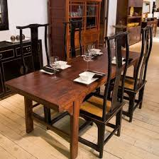 furniture distressed kitchen chairs long narrow dining table