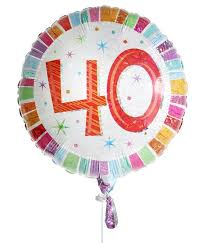 40th birthday delivery 40th birthday balloon for delivery to united kingdom from
