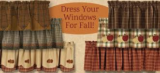 Fall Kitchen Curtains Primitive Curtains For Kitchen Designs With Country
