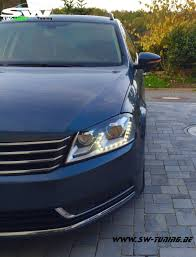 volkswagen passat black sw light headlights vw passat b7 11 15 black led parking light