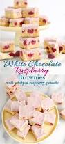 white chocolate brownies with raspberries baking sense