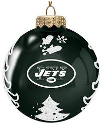 memory company new york jets glass tree ornament