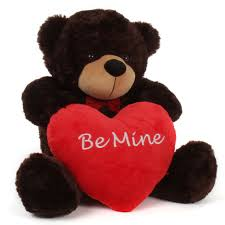 valentines day teddy bears teddy 38in brownie cuddles valentines day w be mine