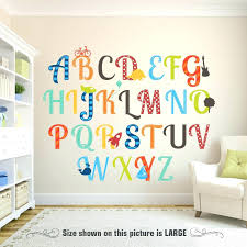 Letter Wall Decals For Nursery Letter Wall Decals For Nursery Wall Ideas Alphabet Wall Decor Wall