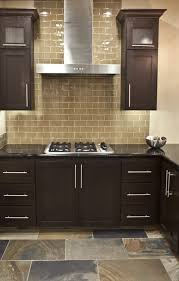 frosted glass backsplash in kitchen entrancing painting tile backsplash in kitchen that using brown