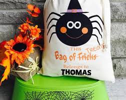 personalized trick or treat bags personalized bag trick or treat bag bag