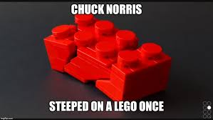 Lego Meme - image tagged in chuck norris legos stepping on a lego funny meme